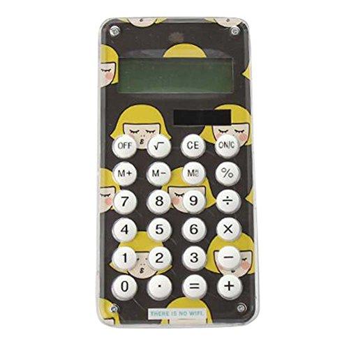 Fashionable Solar Calculator Cute Portable Calculator, Black by DRAGON SONIC