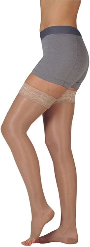 Juzo Naturally OFFer Sheer Compression Reservation Thigh Top Silicone w Band High