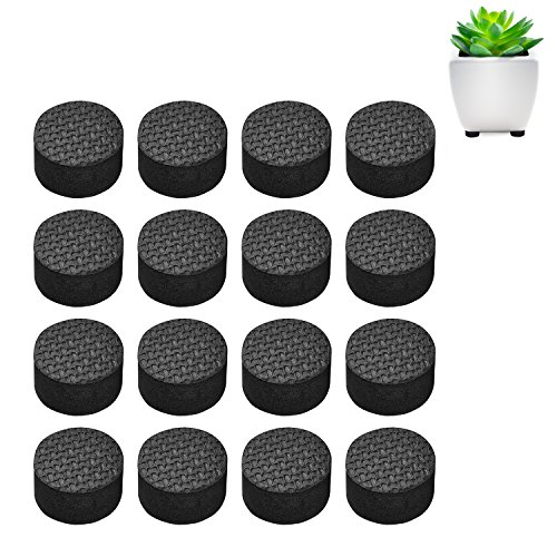 Pot Feet, Basenor Invisible Flower Pot Risers Anti-skin Furniture Pads with Strong Adhesive for Plant Pots, 16 pack (Pot Pads)