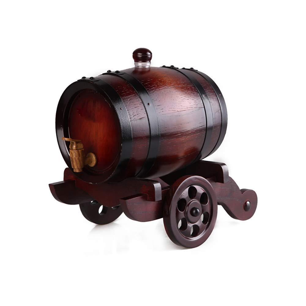 ワイン樽、オーク樽ワイン樽、自作ワイン樽1.5L (色 : ブラック) B07R33B57C ブラック