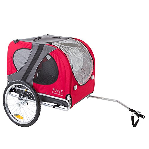 Rage Powersports PT-10117-R Red Pull-Behind Dog Bicycle Trailer with an 85 lb. Capacity by Rage Powersports