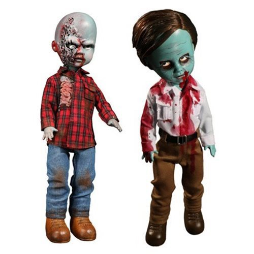 Living Dead Dolls Dawn of the Dead Flyboy and Plaid Shirt Zombie by Mezco