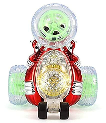 360 Degree Remote Control Truck Spinning and Flips with Color Flash /& Music for Kids tccstar Red Invincible Tornado Twister KOLODOGO RC Rolling Stunt Car