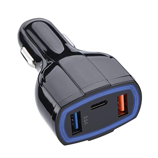 koulate - Cargador de Coche Doble USB con Interfaz Tipo C ...