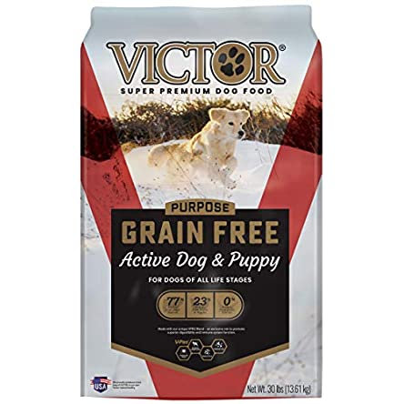 Victor Dog Food Grain-Free Active Dog and Puppy Beef...