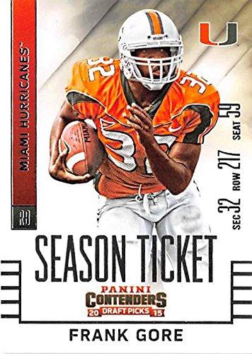 low cost 856ba ad88b Frank Gore football card (University of Miami Hurricanes ...