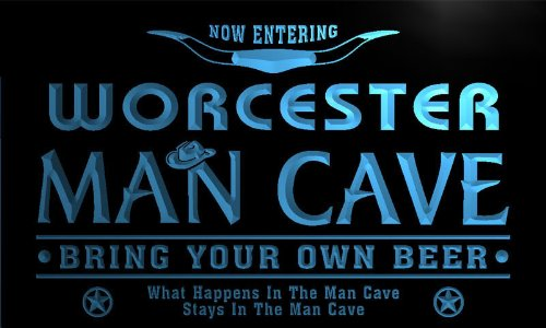 Sign City Worcester (ADV PRO pb2177-b Worcester State Cities Man Cave Cowboys Bar Neon Light Sign)