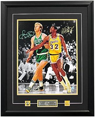 5f4a4f2d5881e Magic Johnson & Larry Bird Dual Signed Lakers vs Celtics Spotlight ...