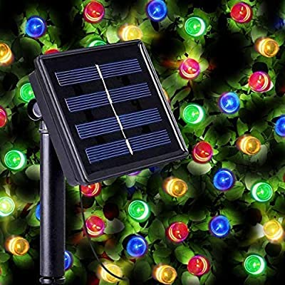200 Multi-Color LED Solar Powered Fairy Lights - Waterproof Solar Decoration String Lights with Built-in Night Sensor by SPV Lights