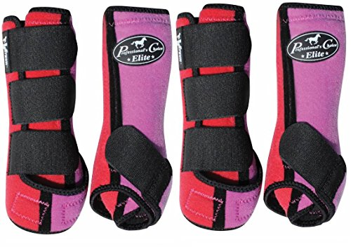 PROFESSIONALS CHOICE ♦ VENTECH ELITE EQUINE SPORTS MEDICINE BOOTS SET OF 4 ♦ ALL SIZES & COLORS (Coral Lavender, Large) by Professional's Choice