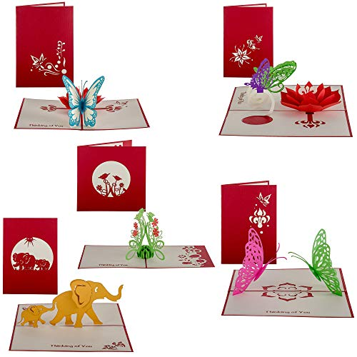 Thinking of You Pop up Cards (set of 5) Thinking of You -