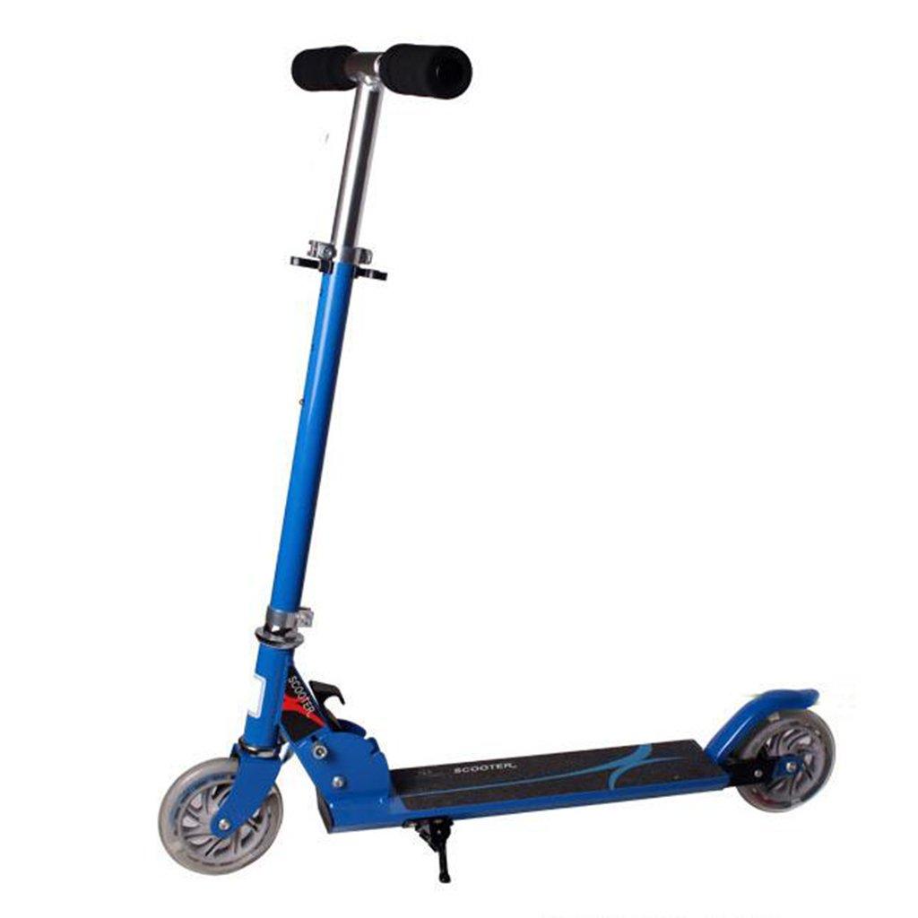 HAIZHEN マウンテンバイク ベビーキャリッジベビーカーアルミ合金二輪車スクーター折り畳み式ウォーカーツイスト車子供用スクーター 新生児 B07DL59Q92 青 青