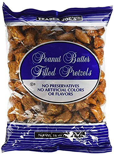 (Trader Joe's Peanut Butter Filled Pretzels 16 oz (Pack of 2))
