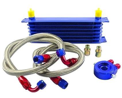 Kit Radiador de Aceite Oil cooler 7 Filas Universal: Amazon.es ...