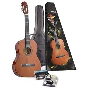 Stagg C542 STARTER P - Pack de guitarra clásica y accesorios