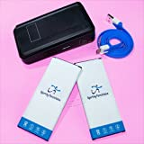 Sporting New High Capacity 2x 4900mAh Extended Slim Battery External Dock Home USB Charger Sync Data Cable for Verizon Samsung Galaxy Note 4 SM-N910V Smartphone