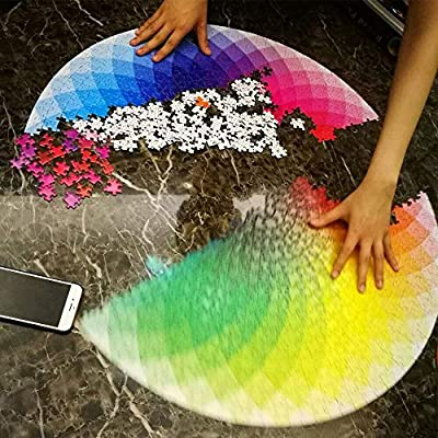 IVYRISE 1000 Pieces of Blazing with Color Round Puzzle for Kids Developing IQ: Toys & Games