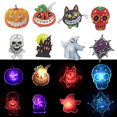 Halloween Party Adults (Halloween LED Light-up Necklace 8PC,Halloween Party Favors Set for Kids and Adults Goodie Bag)
