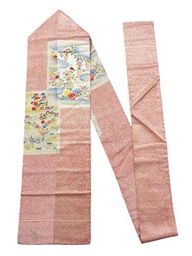 広告無臭損傷アンティーク 名古屋帯 松竹梅に四季の花々 正絹