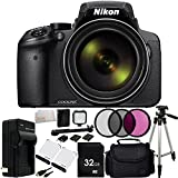 Nikon COOLPIX P900 Digital Camera (Black) - International Version (No Warranty) 32GB Bundle 17PC Accessory Kit.