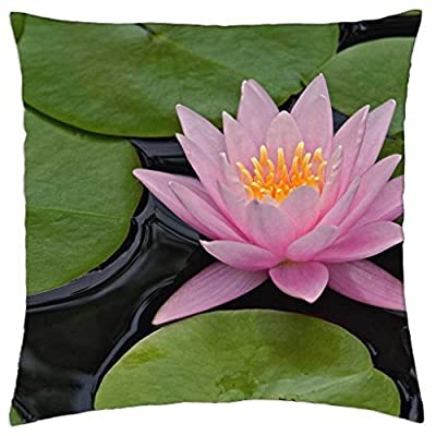 Hybrid Water Lily, Kentucky - Throw Pillow Cover Case (18