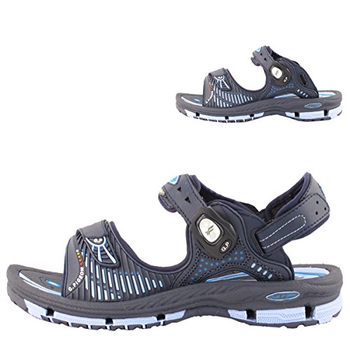 GP9177 Men Women Kids Breathable Outdoor/Water Snap Lock Sandals 7649-navy 0TLS6nN