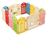 Surreal - Castle Infant & Baby Playpen - 14 Colourful Panels - with Activity Panel