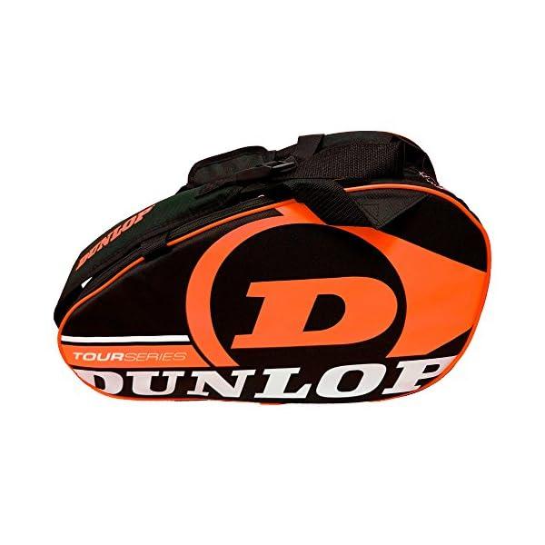 Dunlop - Borsa per racchette da paddle Tour Intro Nero/Arancione Fluo 4 spesavip