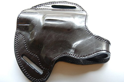 Cal38T85LH Taurus 85 Revolver 38 Special Leather Handcrafted Left Hand Belt Holster Black Tan (Black)