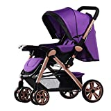 Qianle Classic Connect Stroller Baby Lightweight Stroller Jogger Purple