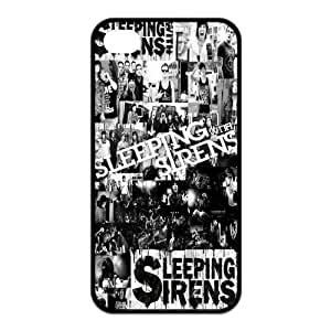 Mystic Zone Popular Rock Band SWS Sleeping with Sirens Case for iPhone 4/4S Rubber Back Covers Fits Case KEK1807