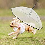 Pet Dog Umbrella With Leash for Small Dogs Puppies 20 Inches Back...