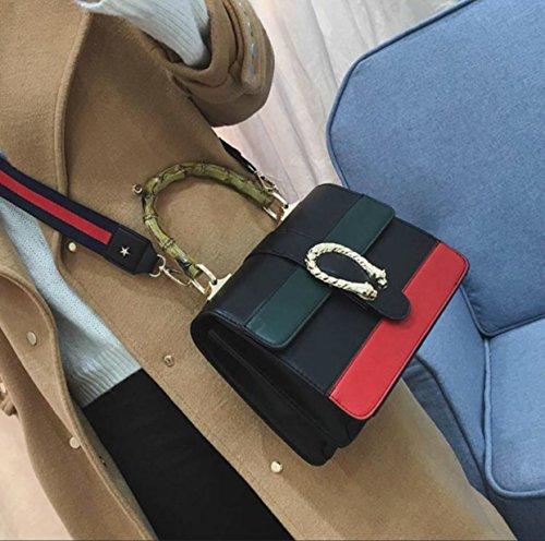 Handle New Bamboo Shoulder 2017 Black2 Bag Messenger Bags Women Handbag With Tote Body Cross HZgvgq