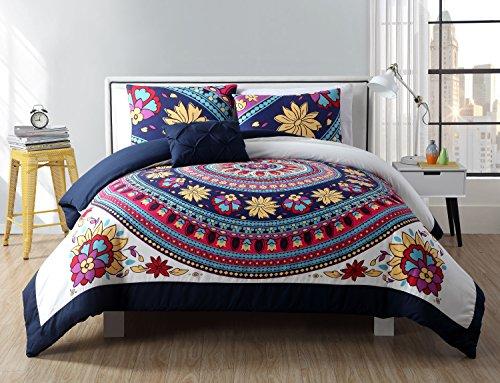 VCNY Home Ahimsa Bright Bohemian Style Comforter Set