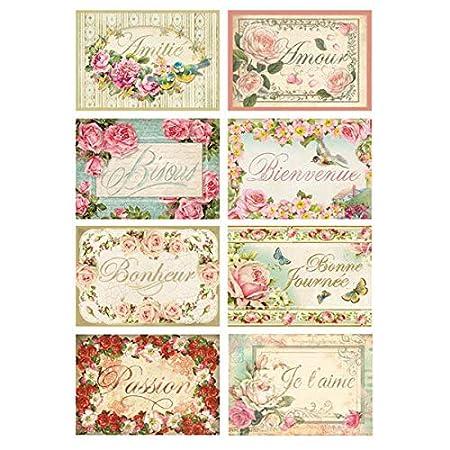 Multicolor Stamperia Papel De Arroz La Creaci/ón 21 X 29.7 Cm
