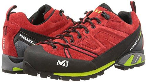 MILLET Trident Guide - Zapatillas de deporte para hombre Rojo - Rouge (7161 Red/Acid Green)