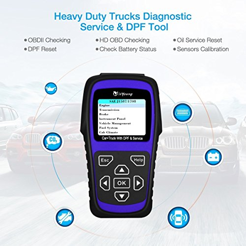 isYoung Professional Auto Scanner Scan Tool with HD DPF ...