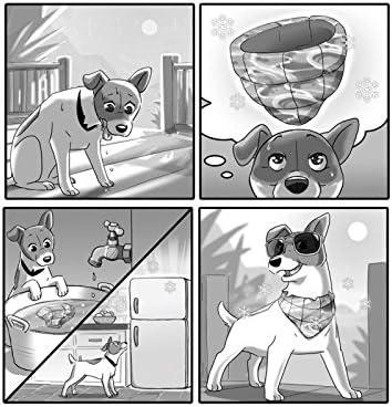 Always Cool Ice Bandana K/ühlendes Hunde Halstuch f/ür Hunde High-Tech S-L Halsband-K/ühlung ohne K/ühlschrank Chill Out