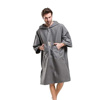 Traje de cambio de toalla Poncho Capa de poncho de toalla de bata de microfibra para