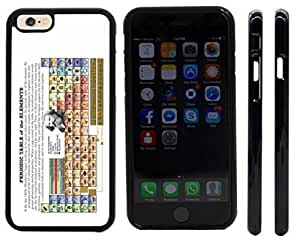 Rikki KnightTM Periodic Table of Elements Chemistry Design iPhone 6 Case Cover (Black Rubber with front bumper protection) for Apple iPhone 6 by runtopwell