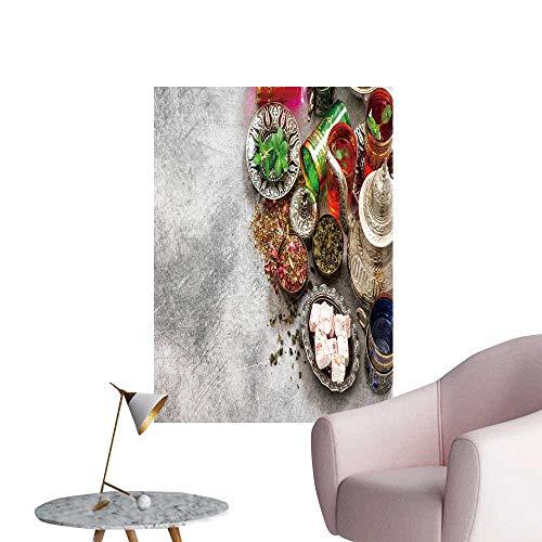 - SeptSonne Wall Painting Tea Table plaace Sett Glasses Oriental Delights High-Definition Design,12