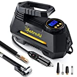 AstroAI Portable Air Compressor Pump, Digital Tire Inflator 12V DC Electric Gauge 100 PSI (Black)