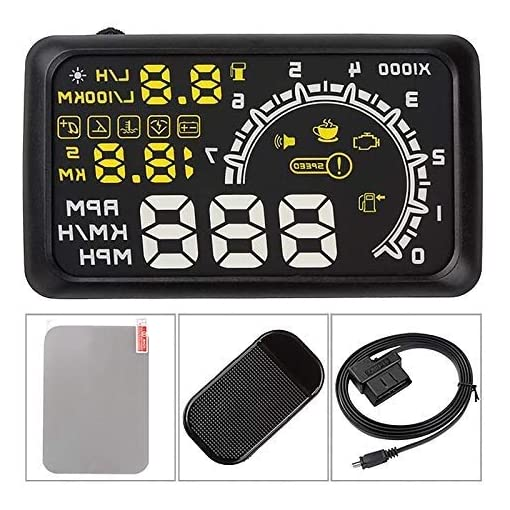 5.5 Inch Auto OBDII OBD2 Port Car Hud Head Up Display KM/h MPH Overspeed Warning Windshield Projector Alarm System Engine Tools and Equipment