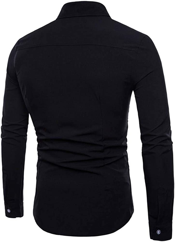 VITryst-Men Stitching Short-Sleeve Silm Fit Stylish V-Neckline T-Shirt Top