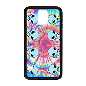 Canting_Good Tie Dye Alien Custom Case Cover Shell for Samsung Galaxy S5 (Laser Technology)