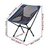 G4Free Portable Ultralight Outdoor Picnic Fishing Folding Camping Chairs Sports Backpacking Chairs Ground Chair