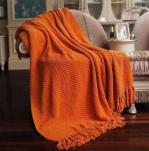 Nader Knitted Tweed Amazing Soft Super Light Weight Extra Warm Cozy Bed Couch Chair Sofa Home Decorative Throw Blanket, 60