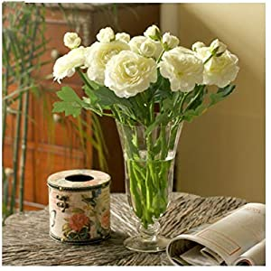 XGM GOU (10 Pcs/Lot Wedding Decoration Artificial Flower High-Grade Simulation Tea Rose Flowers Decorative Flower Silk Peony Bouquet 26