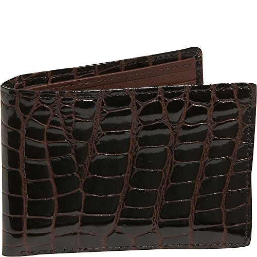 Brown Wallet with Bidente Budd Passcase Budd Leather Crocodile Leather pTzqn