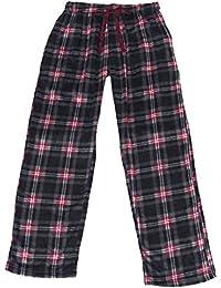 Mens Red & Green Plaid Christmas Holiday Microfleece Sleep Pants Pajama Bottoms